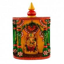 Kundan Mandir(Temple) with Lord Ganesha   Craft by artist E Craft   Paper