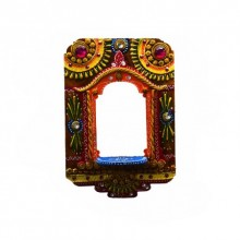 E Craft | Wall Hanging Kundan Mandir(Temple) Craft Craft by artist E Craft | Indian Handicraft | ArtZolo.com