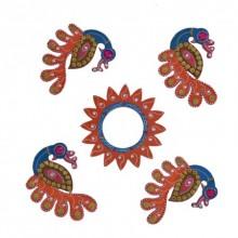 Decorative Floor Rangoli - Peacock | Craft by artist E Craft | Paper