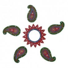 Decorative Floor Rangoli - Keri Design | Craft by artist E Craft | Paper