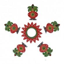 Decorative Floor Rangoli - Kalash Design | Craft by artist E Craft | Paper
