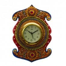 E Craft | Kundan Studded Wall Clock Craft Craft by artist E Craft | Indian Handicraft | ArtZolo.com