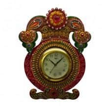 E Craft | Kundan Studded Wall Clock Kalash Craft Craft by artist E Craft | Indian Handicraft | ArtZolo.com