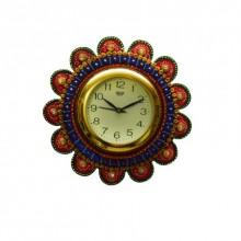 E Craft | Papier Mache Round Wall Clock Craft Craft by artist E Craft | Indian Handicraft | ArtZolo.com