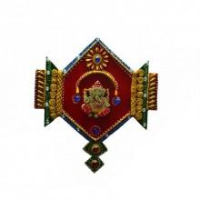 E Craft | Ganesha Jewelled Wall Hanging Craft Craft by artist E Craft | Indian Handicraft | ArtZolo.com