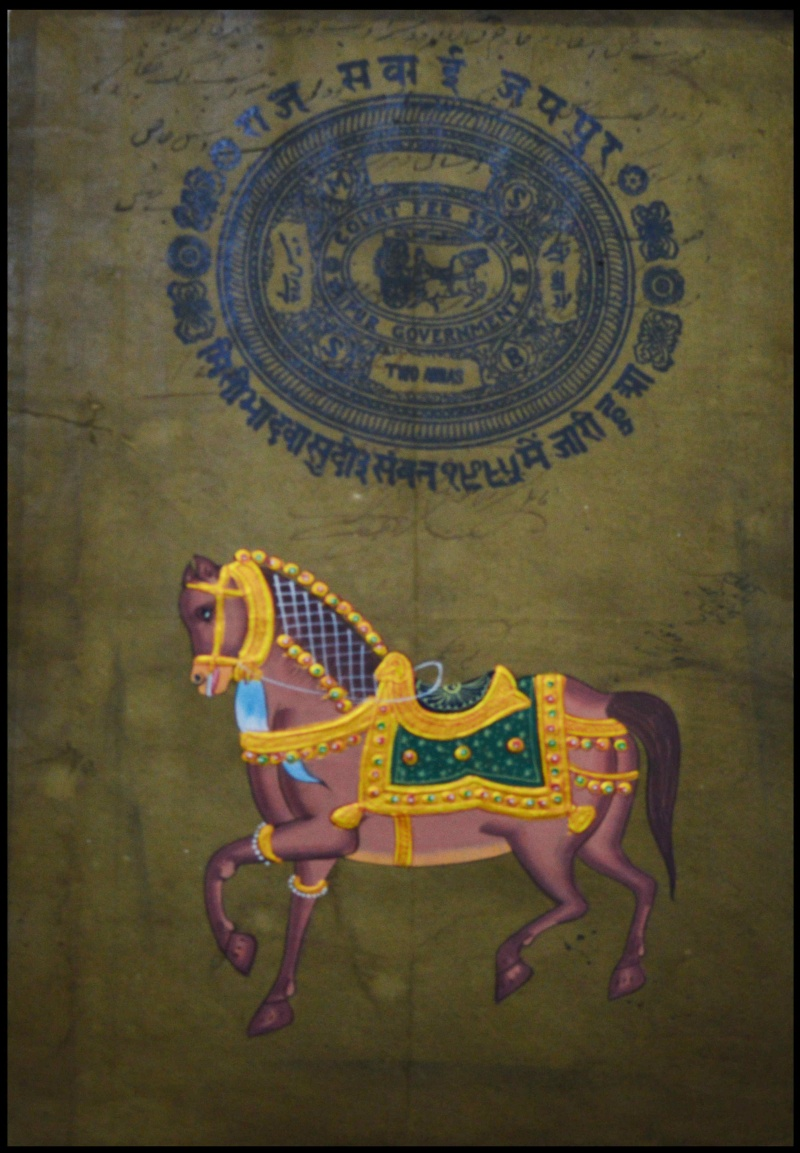 Royal Horse By Unknown Miniature Paintings Paper Traditional Art