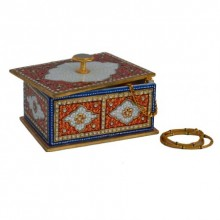 E Craft | Marble Multicolored Jewellery Box Craft Craft by artist E Craft | Indian Handicraft | ArtZolo.com