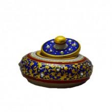 E Craft | Marble Blue Sindoor Holder Craft Craft by artist E Craft | Indian Handicraft | ArtZolo.com