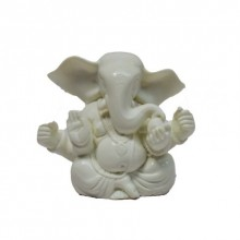 E Craft | White Chaturbhuj Lord Ganesha Craft Craft by artist E Craft | Indian Handicraft | ArtZolo.com