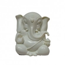 E Craft | White Lord Ganesha Craft Craft by artist E Craft | Indian Handicraft | ArtZolo.com