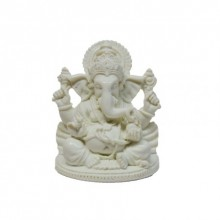 E Craft | Pure White Spritual Lord Ganesha Craft Craft by artist E Craft | Indian Handicraft | ArtZolo.com