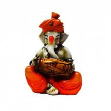 Ganesha Playing Dholak | Craft by artist E Craft | Synthetic Fiber