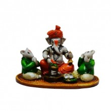 Ganesha performing Shiva Pooja | Craft by artist E Craft | Synthetic Fiber