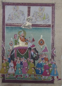 Traditional Indian art title Mughal Royal Troop on Paper - Mughal Paintings