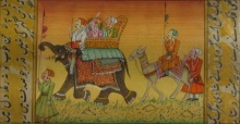 Unknown | Mughal Traditional art title Procession With Elephant And Camel on Paper | Artist Unknown Gallery | ArtZolo.com