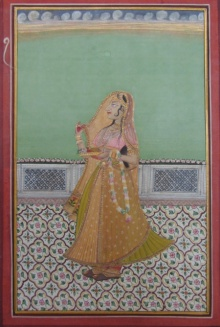 Unknown | Mughal Traditional art title Ragini Waiting on Paper | Artist Unknown Gallery | ArtZolo.com