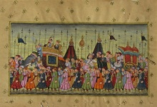Unknown | Mughal Traditional art title Royal March Mughal on Paper | Artist Unknown Gallery | ArtZolo.com