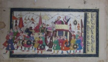 Traditional Indian art title Royal Mughal Troop on Paper - Mughal Paintings