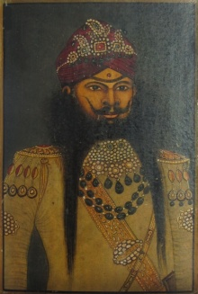 Traditional Indian art title The Nawab Of Mughal Dynasty on Paper - Mughal Paintings