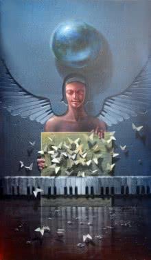 Gopal Chowdhury | Acrylic Painting title God Never Lies on Canvas | Artist Gopal Chowdhury Gallery | ArtZolo.com