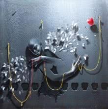 Gopal Chowdhury | Acrylic Painting title Wings Of Butterflies on Canvas | Artist Gopal Chowdhury Gallery | ArtZolo.com