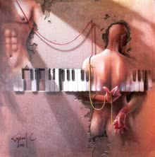 Figurative Acrylic-oil Art Painting title 'Wings Of Music' by artist Gopal Chowdhury