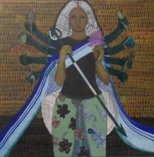 Religious Acrylic Art Painting title Mother by artist Harshada Kolapkar