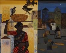 Figurative Acrylic Art Painting title Routine by artist Harshada Kolapkar