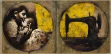 Figurative Acrylic-oil Art Painting title Dor by artist Sanjib Gogoi
