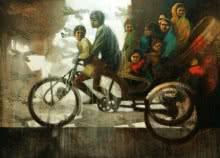 Dream Ride | Painting by artist Sanjib Gogoi | acrylic-oil | Canvas