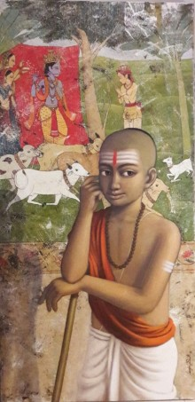 Pandit 2 | Painting by artist Sanjay Raut | acrylic | Canvas