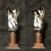 Aluminium Sculpture titled 'Dampatya 2' by artist Rajeev Ranjan