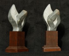 Stone Sculpture titled 'Flame' by artist Rajeev Ranjan