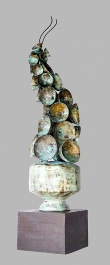 Brass Sculpture titled 'Navprabhat' by artist Rajeev Ranjan