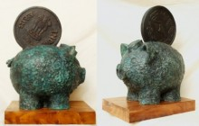 Power Bank | Sculpture by artist Rajeev Ranjan | Bronze