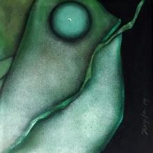 Jayita Borthakur Paintings | Acrylic Painting - The Fish 1 by artist Jayita Borthakur | ArtZolo.com