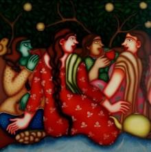 Untitled 1 | Painting by artist Jayita Borthakur | oil | Canvas