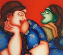 Figurative Oil Art Painting title Untitled 4 by artist Jayita Borthakur