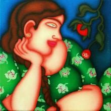 Figurative Oil Art Painting title Untitled 5 by artist Jayita Borthakur