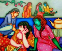Figurative Oil Art Painting title Untitled 6 by artist Jayita Borthakur