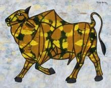 Bull 24 | Painting by artist Vijay Belde | acrylic | Canvas