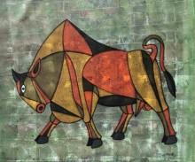 Bull 26 | Painting by artist Vijay Belde | acrylic | Canvas