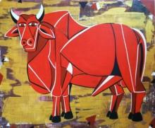 Bull 30 | Painting by artist Vijay Belde | acrylic | Canvas