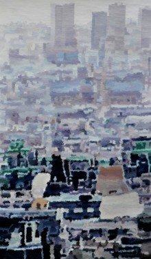 Cityscape 2 | Painting by artist Ganesh Pokharkar | oil | Canvas