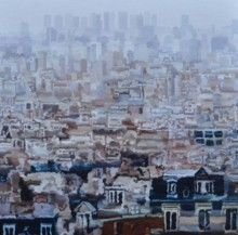 Cityscape 5 | Painting by artist Ganesh Pokharkar | oil | Canvas
