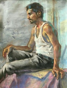 Pandit | Painting by artist Abhijeet Patole | acrylic | Paper