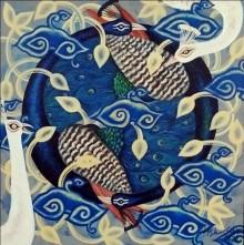 Animals Acrylic Art Painting title Stirring Nature 2 by artist Kishore Sahoo