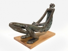Leisure Time 2 | Sculpture by artist Rakesh Sadhak | Bronze