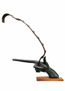 Target | Sculpture by artist Rakesh Sadhak | Bronze, Wood