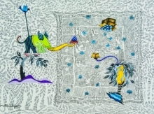 My Fantasy World 7 | Drawing by artist Avijit Mukherjee | | gouache | Fabriano Paper